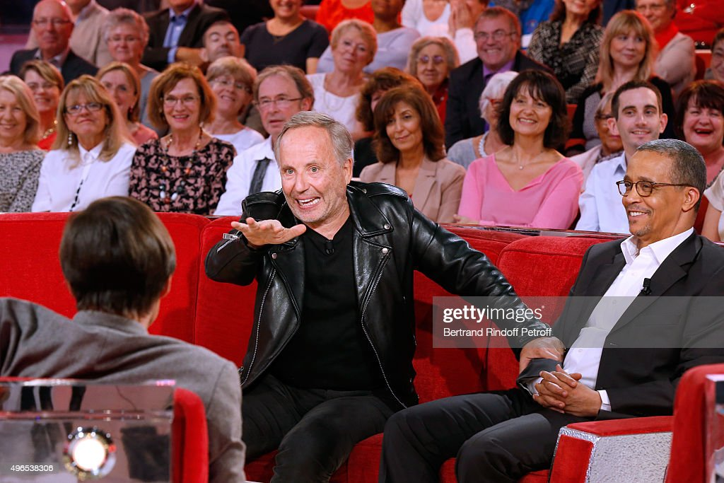 Actor <a gi-track='captionPersonalityLinkClicked' href=/galleries/search?phrase=Fabrice+Luchini&family=editorial&specificpeople=716653 ng-click='$event.stopPropagation()'>Fabrice Luchini</a> makes a Speach about Nature, about Main Guest of the show <a gi-track='captionPersonalityLinkClicked' href=/galleries/search?phrase=Nicolas+Hulot&family=editorial&specificpeople=2372364 ng-click='$event.stopPropagation()'>Nicolas Hulot</a> and presents the Movie 'L'Hermine' for which he won the award for Best Actor at the Venice Film Festival alias 'Mostra de Venise' 2015, with <a gi-track='captionPersonalityLinkClicked' href=/galleries/search?phrase=Nicolas+Hulot&family=editorial&specificpeople=2372364 ng-click='$event.stopPropagation()'>Nicolas Hulot</a> and Writer Yasmina Khadra attend the 'Vivement Dimanche' French TV Show at Pavillon Gabriel on November 10, 2015 in Paris, France.