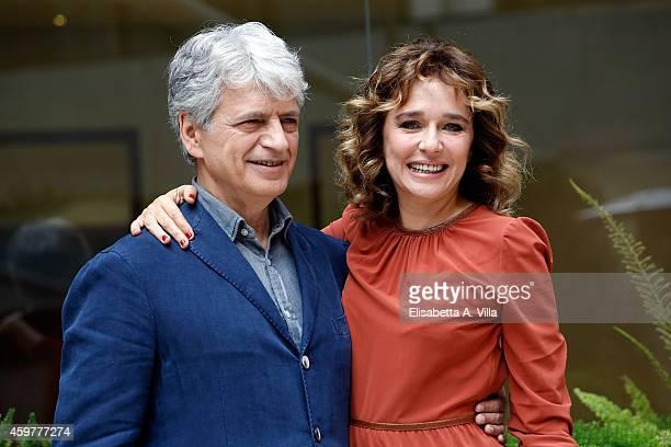 Actor Fabrizio Bentivoglio and actress Valeria Golino attend 'Il Ragazzo Invisibile' photocall at Visconti Hotel on December 1 2014 in Rome Italy