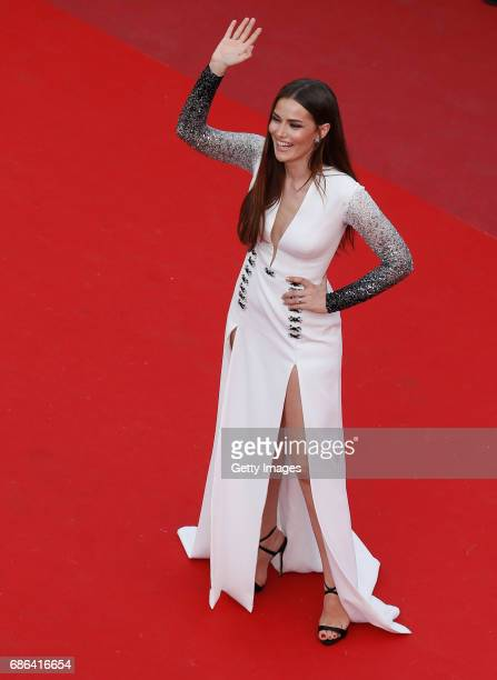 Actor Fahriye Evcen attends 'The Meyerowitz Stories' premiere during the 70th annual Cannes Film Festival at Palais des Festivals on May 21 2017 in...