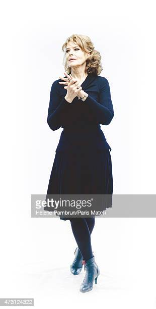 Actor Fanny Ardent is photographed for Paris Match on December 23 2013 in Paris France