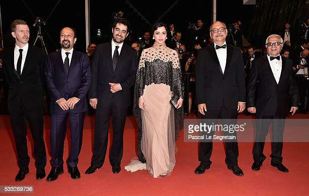 Actor Farid Sajjadihosseini film editor Babak Karimi actress Taraneh Alidoosti director Asghar Farhadi actor Shahab Hosseini and distributer...