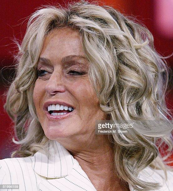 Actor Farrah Fawcett attends the 2005 Television Critics Winter Press Tour at the Hilton Universal Hotel on January 14 2005 in Universal City...