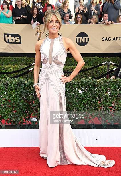 Actor Felicity Huffman attends The 23rd Annual Screen Actors Guild Awards at The Shrine Auditorium on January 29 2017 in Los Angeles California...