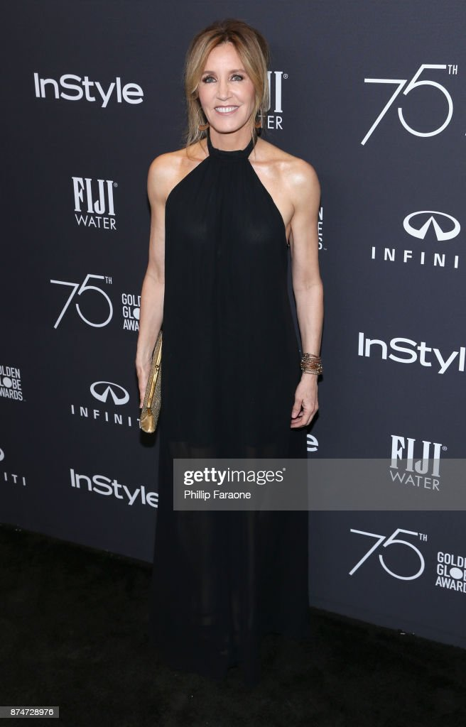 Actor Felicity Huffman attends the HFPA's and InStyle's Celebration of the 2018 Golden Globe Awards Season and the Unveiling of the Golden Globe Ambassador at Catch on November 15, 2017 in West Hollywood, California.