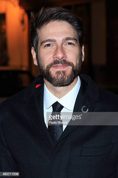 Actor Felix Gomez is seen arriving to 'Maison Dom Perignon' party at Pinto Duarte Palace on December 9 2014 in Madrid Spain
