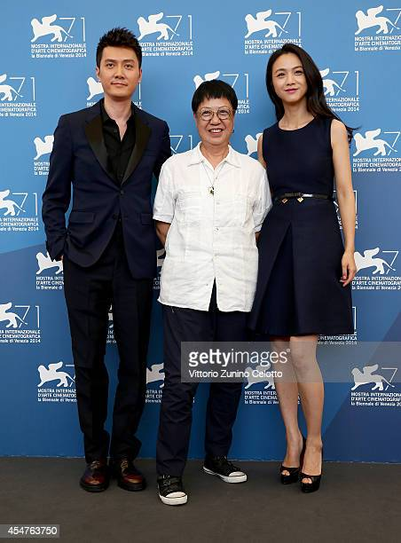 Actor Feng Shaofengdirector Ann Hui and actress Tang Wei attends 'The Golden Era' photocall during the 71st Venice Film Festival on September 6 2014...