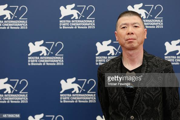 Actor Feng Xiaogang attends a photocall for 'Mr Six' during the 72nd Venice Film Festival at Palazzo del Casino on September 12 2015 in Venice Italy