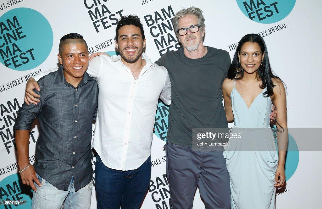 Actor Fernando Cardona, Chris Nunez, director Jim McKay and Mathia Vargas attend 'En El Septimo Dia' centerpiece screening during BAMcinemaFest 2017 at BAM Harvey Theater on June 18, 2017 in New York City.