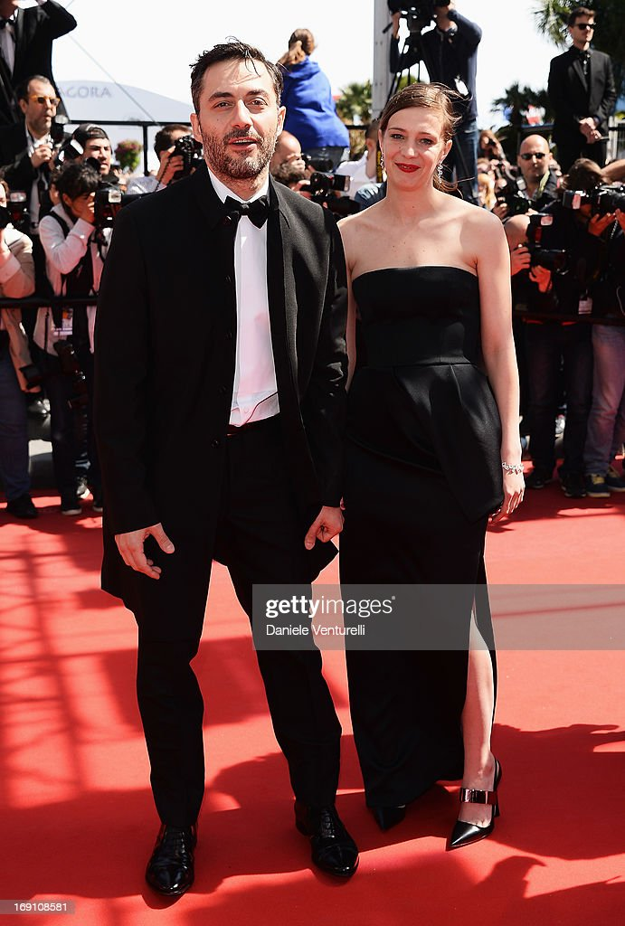 Actor <a gi-track='captionPersonalityLinkClicked' href=/galleries/search?phrase=Filippo+Timi&family=editorial&specificpeople=4146821 ng-click='$event.stopPropagation()'>Filippo Timi</a> and actress <a gi-track='captionPersonalityLinkClicked' href=/galleries/search?phrase=Celine+Sallette&family=editorial&specificpeople=6484842 ng-click='$event.stopPropagation()'>Celine Sallette</a> attend the Premiere of 'Un Chateau En Italie' during the 66th Annual Cannes Film Festival at the Palais des Festivals on May 20, 2013 in Cannes, Fra