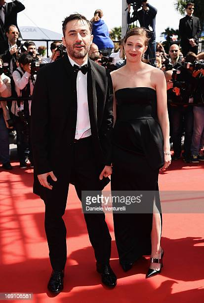 Actor Filippo Timi and actress Celine Sallette attend the Premiere of 'Un Chateau En Italie' during the 66th Annual Cannes Film Festival at the...