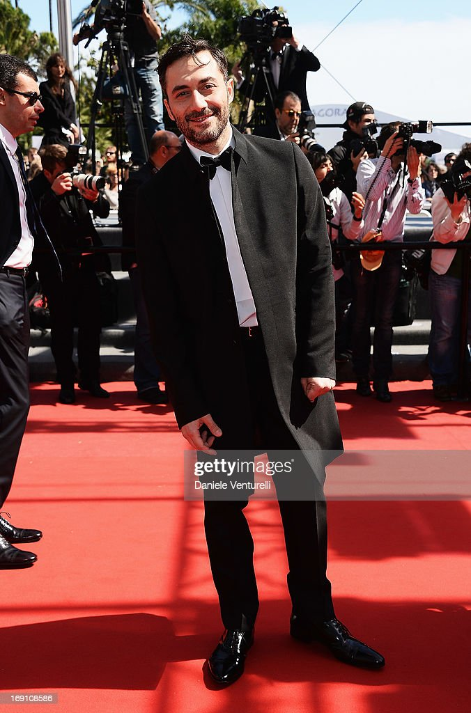 Actor <a gi-track='captionPersonalityLinkClicked' href=/galleries/search?phrase=Filippo+Timi&family=editorial&specificpeople=4146821 ng-click='$event.stopPropagation()'>Filippo Timi</a> attends the Premiere of 'Un Chateau En Italie' during the 66th Annual Cannes Film Festival at the Palais des Festivals on May 20, 2013 in Cannes, Fra