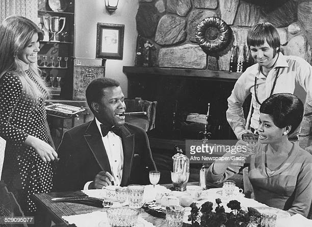 Actor film director author and diplomat Sidney Poitier AfricanAmerican jazz vocalist songwriter and actress Abbey Lincoln Beau Bridges Lauri Peters...