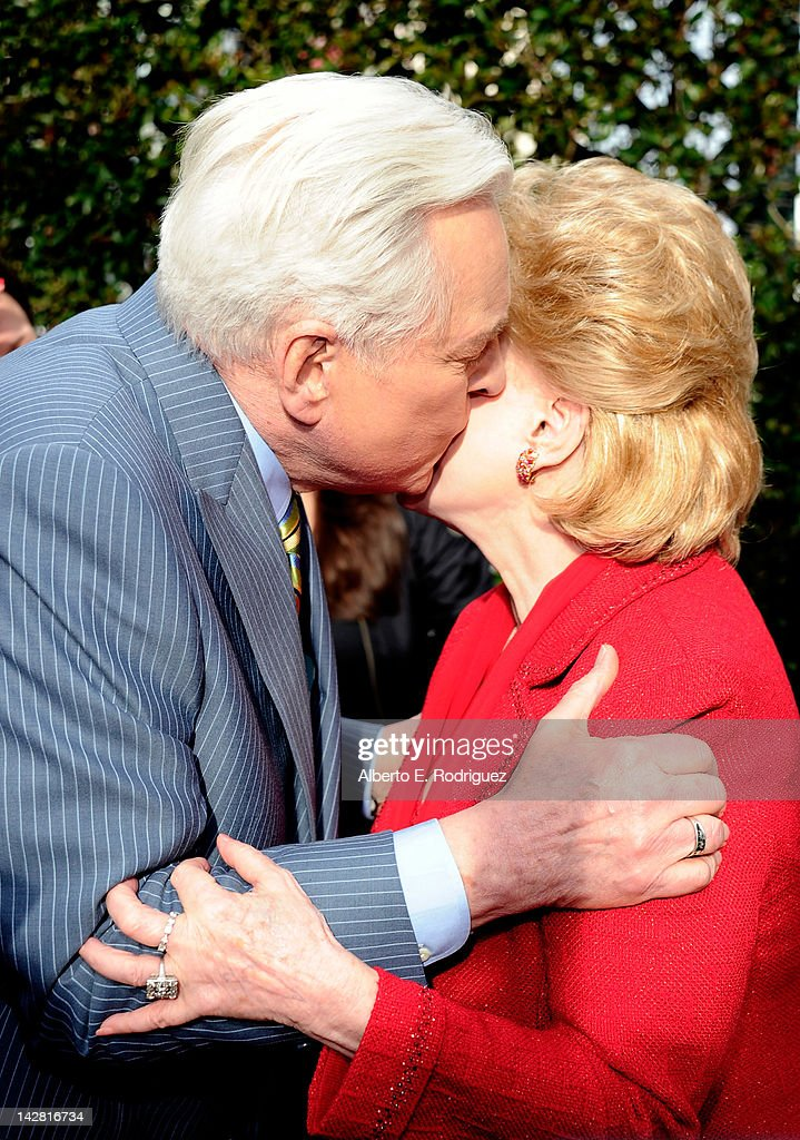 Actor/ film historian Robert Osborne ands actress Debbie Reynolds arrive at the TCM Classic Film Festival opening night premiere of the 40th...