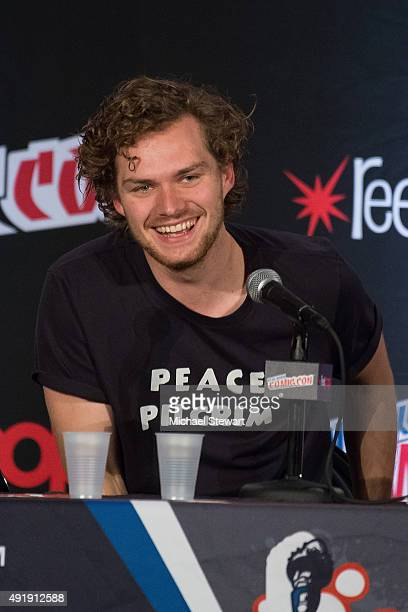 Actor Finn Jones attends Game of Thrones A Panel of Ice and Fire during New York ComicCon Day 1 at The Jacob K Javits Convention Center on October 8...