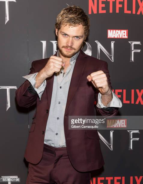 Actor Finn Jones attends Marvel's 'Iron Fist' New York Screening at AMC Empire 25 on March 15 2017 in New York City