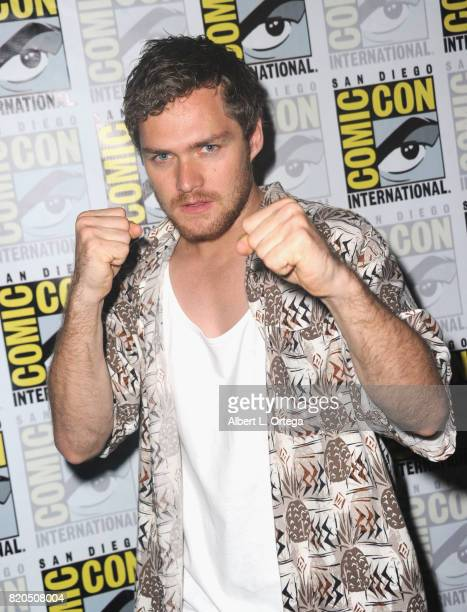 Actor Finn Jones attends Netflix's 'The Defenders' panel during ComicCon International 2017 at San Diego Convention Center on July 21 2017 in San...