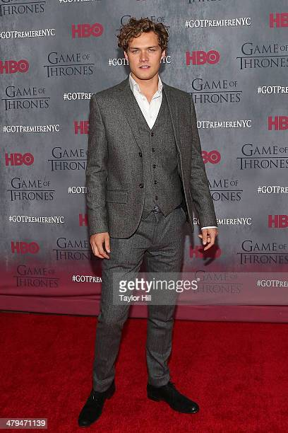 Actor Finn Jones attends the 'Game Of Thrones' Season 4 premiere at Avery Fisher Hall Lincoln Center on March 18 2014 in New York City