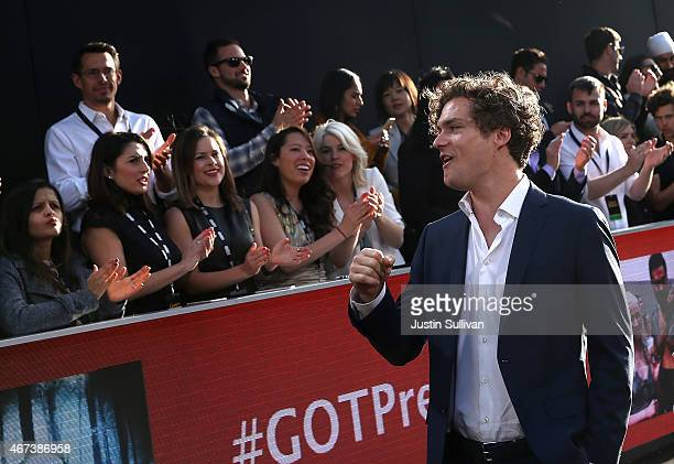Actor Finn Jones attends the premiere of HBO's 'Game of Thrones' Season 5 at San Francisco Opera House on March 23 2015 in San Francisco California