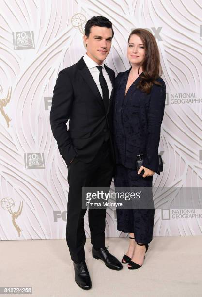 Actor Finn Wittrock and Sarah Roberts attend FOX Broadcasting Company Twentieth Century Fox Television FX And National Geographic 69th Primetime Emmy...