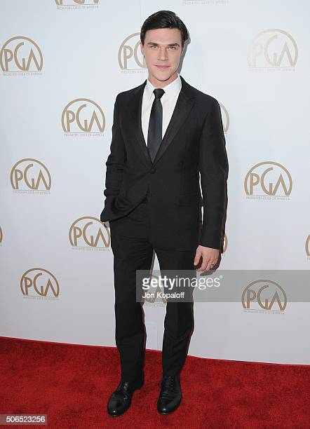 Actor Finn Wittrock arrives at the 27th Annual Producers Guild Awards at the Hyatt Regency Century Plaza on January 23 2016 in Century City California