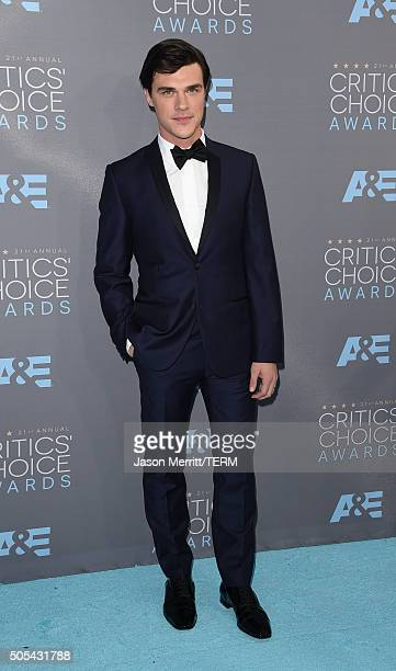Actor Finn Wittrock attends the 21st Annual Critics' Choice Awards at Barker Hangar on January 17 2016 in Santa Monica California