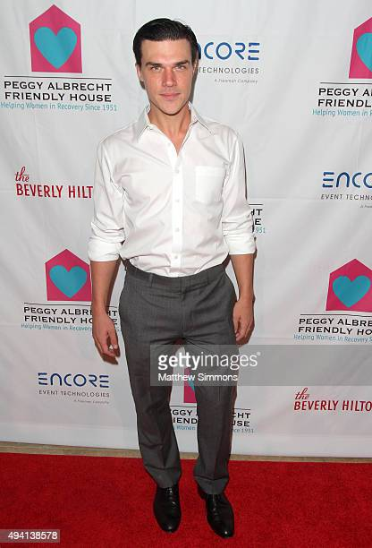 Actor Finn Wittrock attends the Peggy Albrecht Friendly House Los Angeles 26th Annual Awards Luncheon at The Beverly Hilton Hotel on October 24 2015...