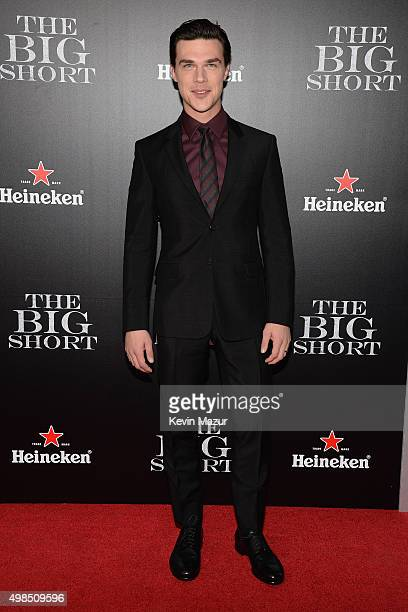 Actor Finn Wittrock attends the premiere of 'The Big Short' at Ziegfeld Theatre on November 23 2015 in New York City