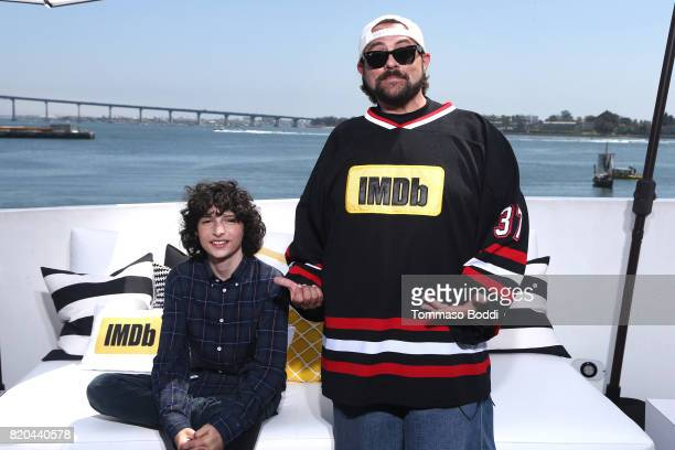 Actor Finn Wolfhard and host Kevin Smith on the #IMDboat at San Diego ComicCon 2017 at The IMDb Yacht on July 21 2017 in San Diego California
