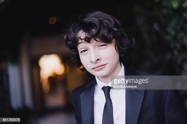 Actor Finn Wolfhard attends 'Finn Wolfhard Caleb McLaughlin and Noah Schnapp prepare for the 74th annual Golden Globes Awards' on January 8 2017 in...