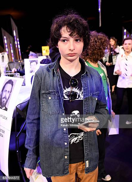 Actor Finn Wolfhard attends The 23rd Annual Screen Actors Guild Awards Rehearsals at The Shrine Auditorium on January 28 2017 in Los Angeles...