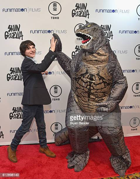 Actor Finn Wolfhard attends the 'Shin Godzilla' premiere presented by Funimation Films at AMC Empire 25n2016 New York Comic Con on October 5 2016 in...