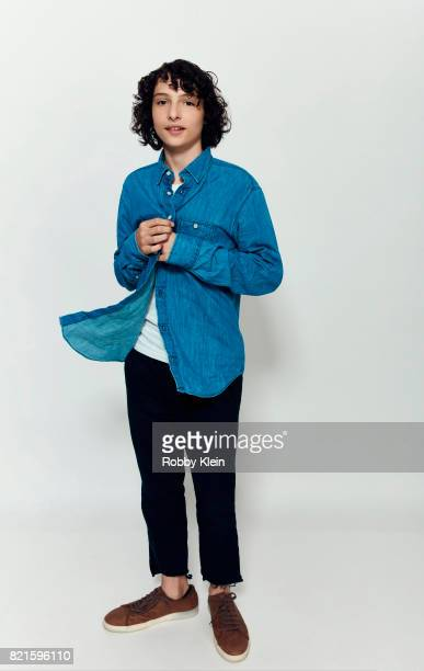 Actor Finn Wolfhard from Netflix's 'Stranger Things' poses for a portrait during ComicCon 2017 at Hard Rock Hotel San Diego on July 22 2017 in San...