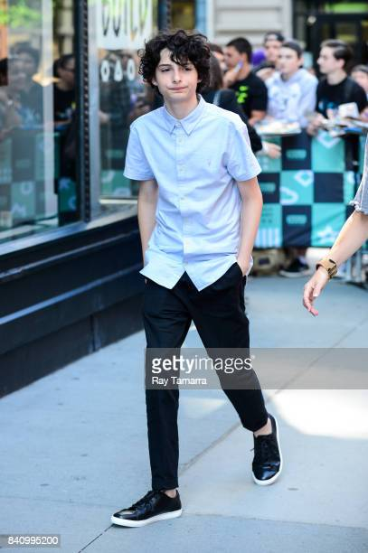 Actor Finn Wolfhard leaves the 'AOL Build' taping at the AOL Studios on August 30 2017 in New York City