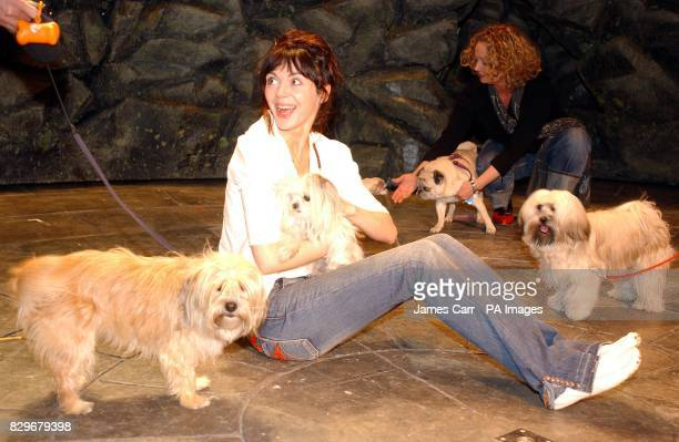 Actor Fiona O'Shaughnessy during auditions to find dogs to play the starring role of 'Tatters' in a production of Dion Boucicault's classic play 'The...