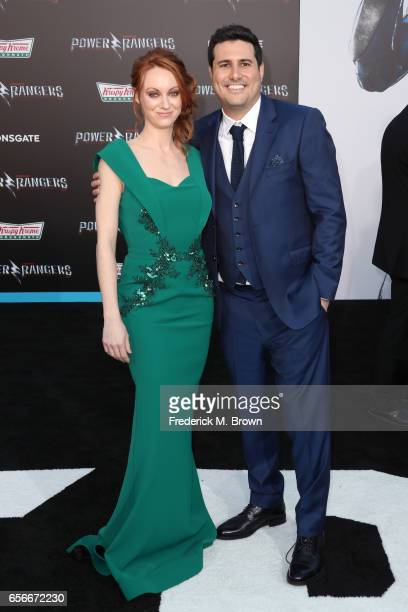 Actor Fiona Vroom and director Dean Israelite at the premiere of Lionsgate's 'Power Rangers' on March 22 2017 in Westwood California