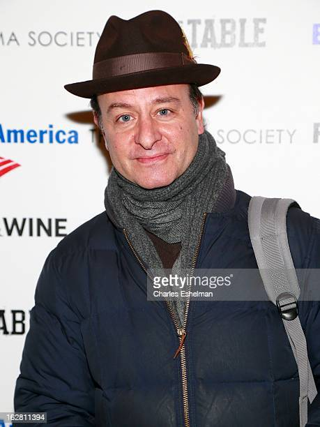 Actor Fisher Stevens arrives at Bank of America and Food Wine with The Cinema Society present a screening of 'A Place at the Table' at the Celeste...