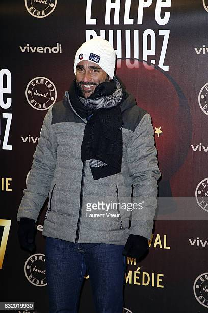 Actor Florent Peyre attends the Photocall 'Le Jamel Comedy Club prend de l'Altitude at Le Signal at a 2108 meter height on January 18 2017 in Alpe...