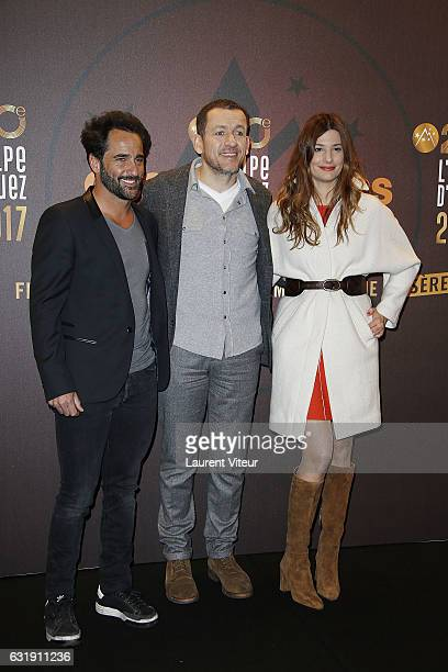 Actor Florent Peyre Director and Actor Dany Boon and Actress Alice Pol attend the 20th L'Alpe D'Huez International Comedy Film Festival Opening...
