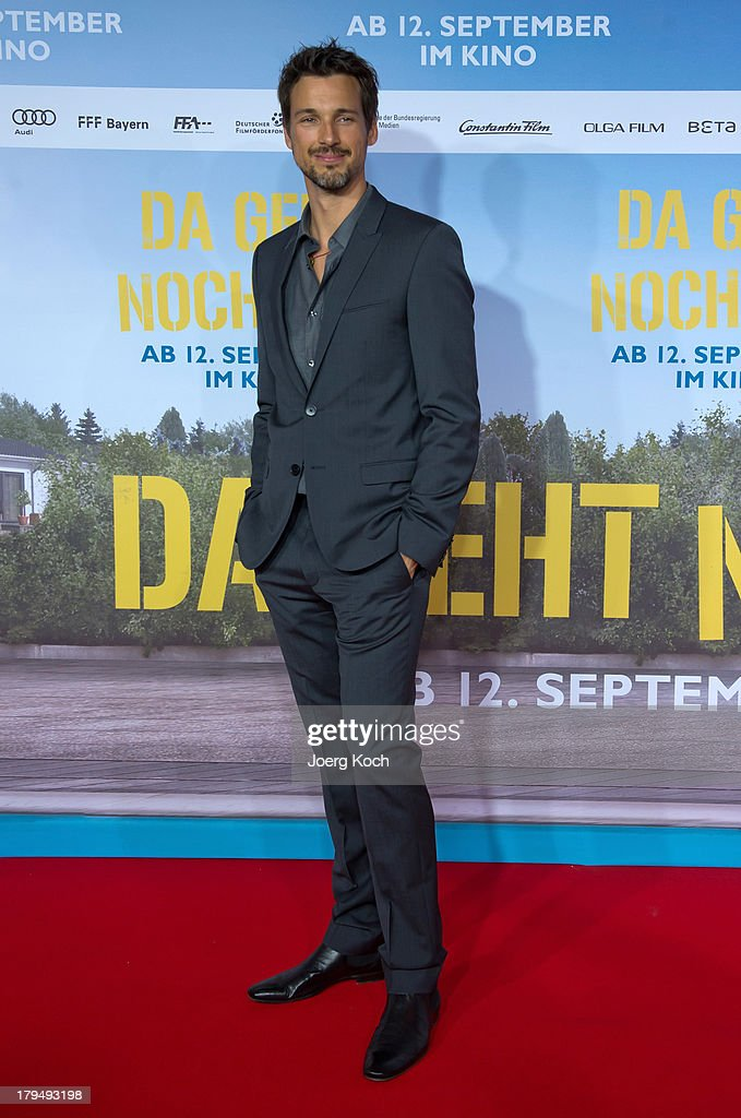 Actor Florian David Fitz poses at the 'Da geht noch was' Germany premiere at Mathaeser on September 4, 2013 in Munich, Germany.