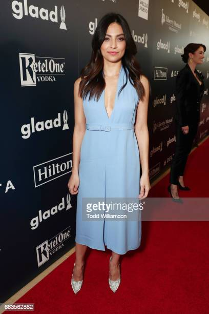 Actor Floriana Lima attends the 28th Annual GLAAD Media Awards in LA at The Beverly Hilton Hotel on April 1 2017 in Beverly Hills California