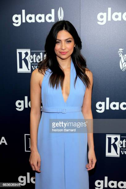 Actor Floriana Lima celebrates achievements in the LGBTQ community at the 28th Annual GLAAD Media Awards sponsored by LGBTQ ally Ketel One Vodka in...