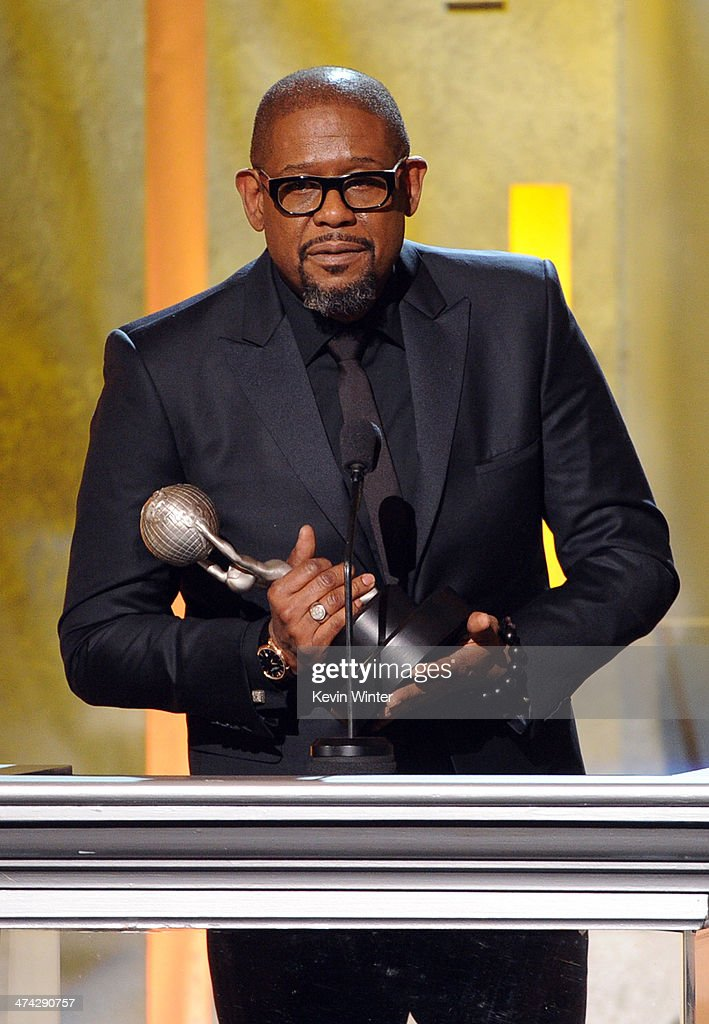 Actor <a gi-track='captionPersonalityLinkClicked' href=/galleries/search?phrase=Forest+Whitaker&family=editorial&specificpeople=226590 ng-click='$event.stopPropagation()'>Forest Whitaker</a> accepts the Chairman's Award onstage during the 45th NAACP Image Awards presented by TV One at Pasadena Civic Auditorium on February 22, 2014 in Pasadena, California.