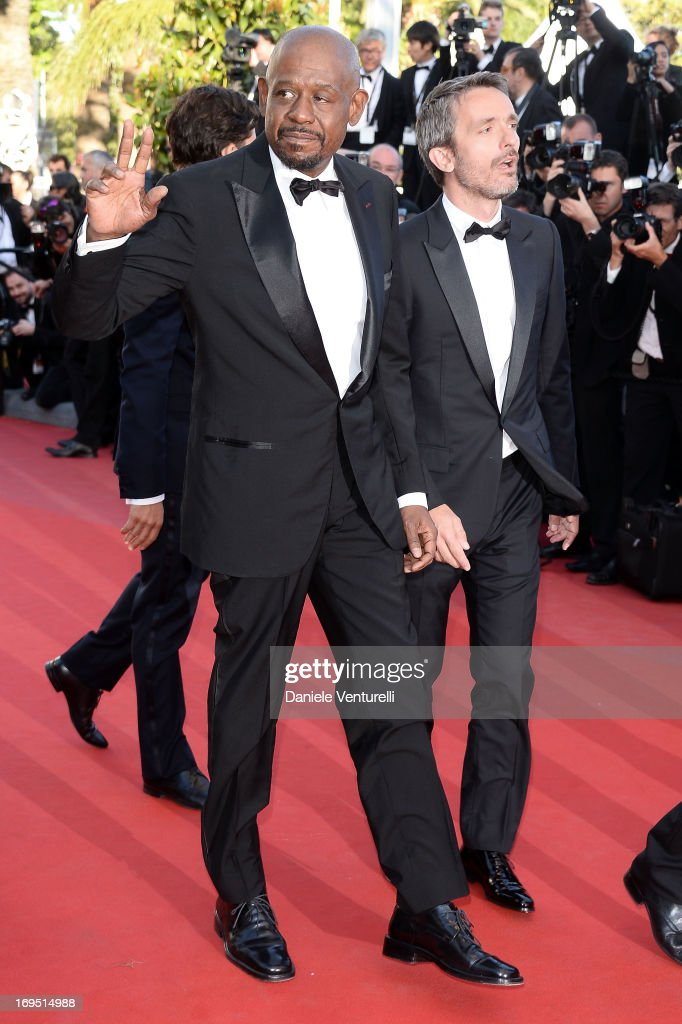Actor Forest Whitaker and director Jerome Salle attend the Premiere of 'Zulu' and the Closing Ceremony of The 66th Annual Cannes Film Festival at Palais des Festivals on May 26, 2013 in Cannes, France.