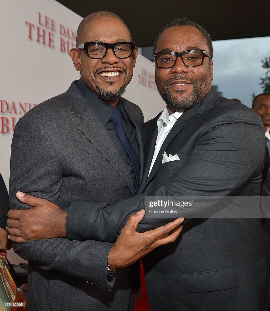 Actor Forest Whitaker and director Lee Daniels attend LEE DANIELS' THE BUTLER Los Angeles premiere, hosted by TWC, Budweiser and FIJI Water, Purity Vodka and Stack Wines, held at Regal Cinemas L.A. Live on August 12, 2013 in Los Angeles, California.
