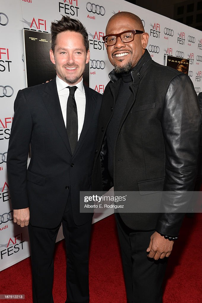 Actor <a gi-track='captionPersonalityLinkClicked' href=/galleries/search?phrase=Forest+Whitaker&family=editorial&specificpeople=226590 ng-click='$event.stopPropagation()'>Forest Whitaker</a> (L) and director Scott Cooper, attend the screening of 'Out of the Furnace' during AFI FEST 2013 presented by Audi at TCL Chinese Theatre on November 9, 2013 in Hollywood, California.