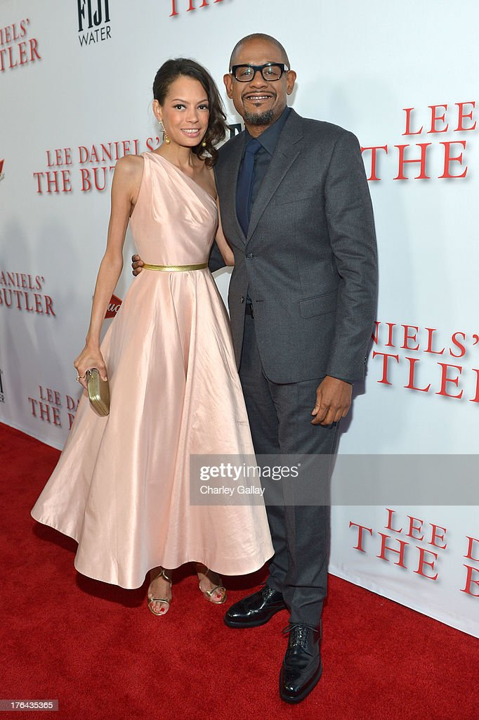 Actor Forest Whitaker (R) and Keisha Nash Whitaker attend LEE DANIELS' THE BUTLER Los Angeles premiere, hosted by TWC, Budweiser and FIJI Water, Purity Vodka and Stack Wines, held at Regal Cinemas L.A. Live on August 12, 2013 in Los Angeles, California.