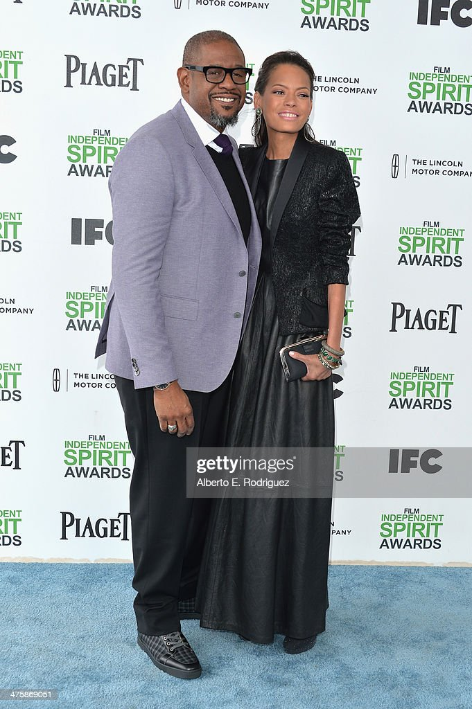 Actor Forest Whitaker (L) and Keisha Nash Whitaker attend the 2014 Film Independent Spirit Awards at Santa Monica Beach on March 1, 2014 in Santa Monica, California.