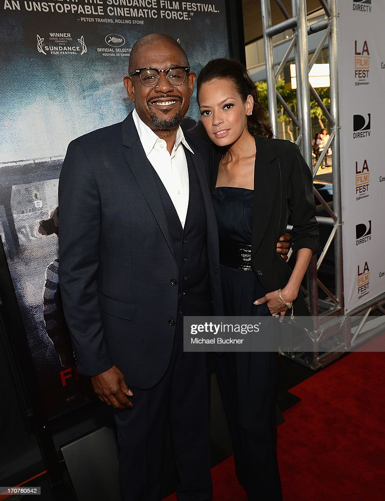 Actor <a gi-track='captionPersonalityLinkClicked' href=/galleries/search?phrase=Forest+Whitaker&family=editorial&specificpeople=226590 ng-click='$event.stopPropagation()'>Forest Whitaker</a> (L) and <a gi-track='captionPersonalityLinkClicked' href=/galleries/search?phrase=Keisha+Whitaker&family=editorial&specificpeople=662393 ng-click='$event.stopPropagation()'>Keisha Whitaker</a> arrive at the premiere of The Weinstein Company's 'Fruitvale Station' at Regal Cinemas L.A. Live on June 17, 2013 in Los Angeles, California.