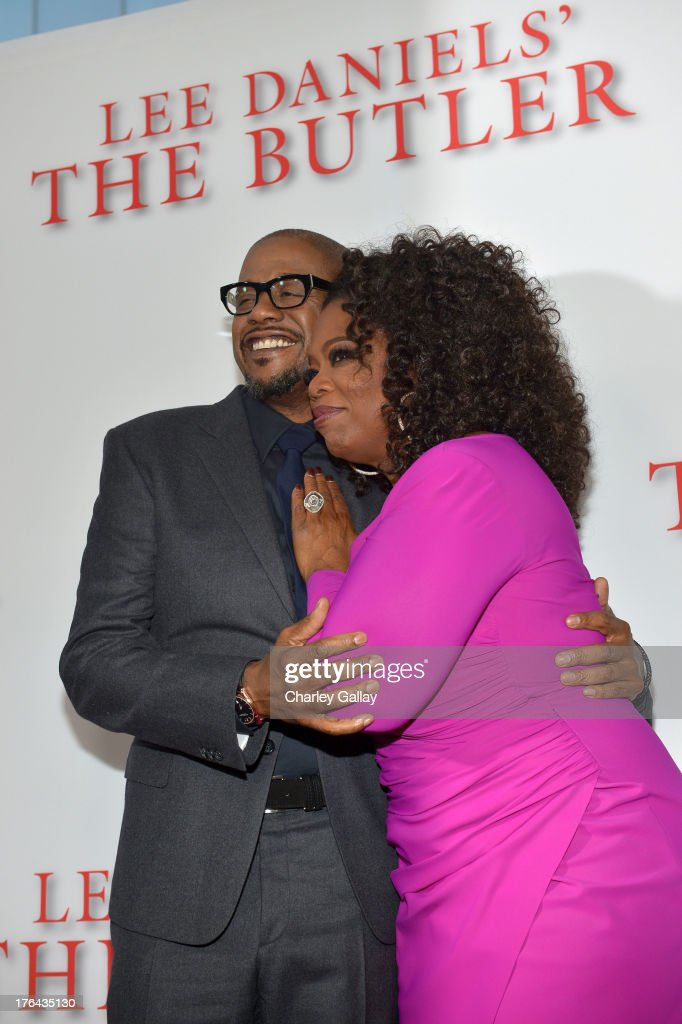 Actor Forest Whitaker (L) and Oprah Winfrey attend LEE DANIELS' THE BUTLER Los Angeles premiere, hosted by TWC, Budweiser and FIJI Water, Purity Vodka and Stack Wines, held at Regal Cinemas L.A. Live on August 12, 2013 in Los Angeles, California.