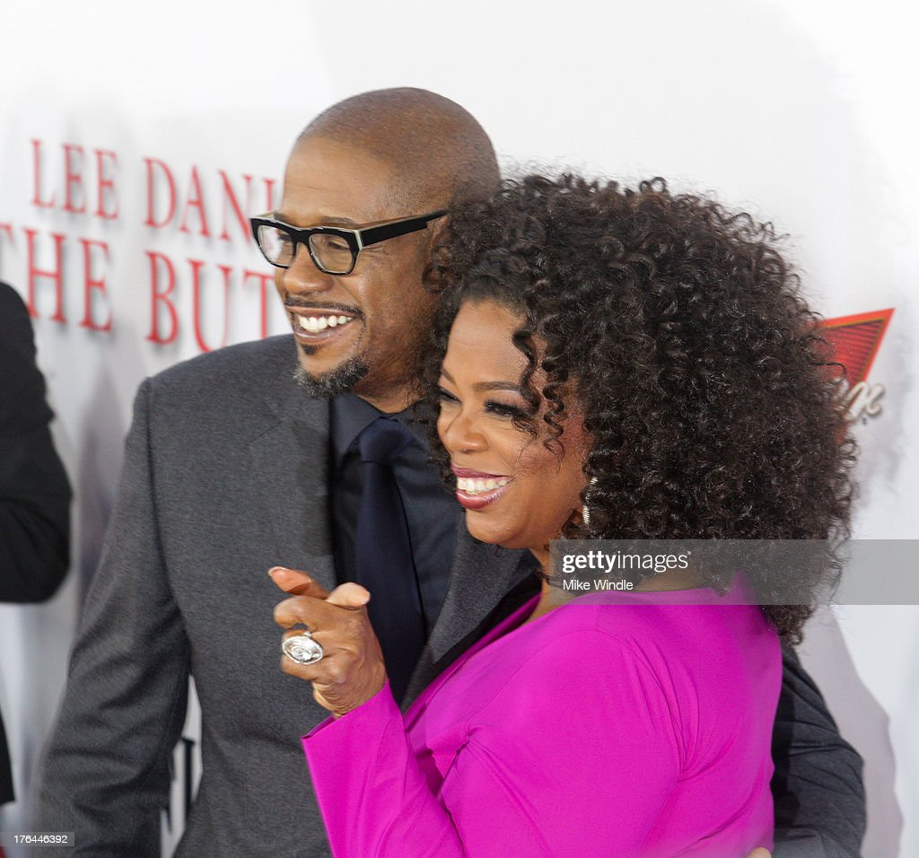 Actor Forest Whitaker (L) and Oprah Winfrey attends LEE DANIELS' THE BUTLER Los Angeles premiere, hosted by TWC, Budweiser and FIJI Water, Purity Vodka and Stack Wines, held at Regal Cinemas L.A. Live on August 12, 2013 in Los Angeles, California.